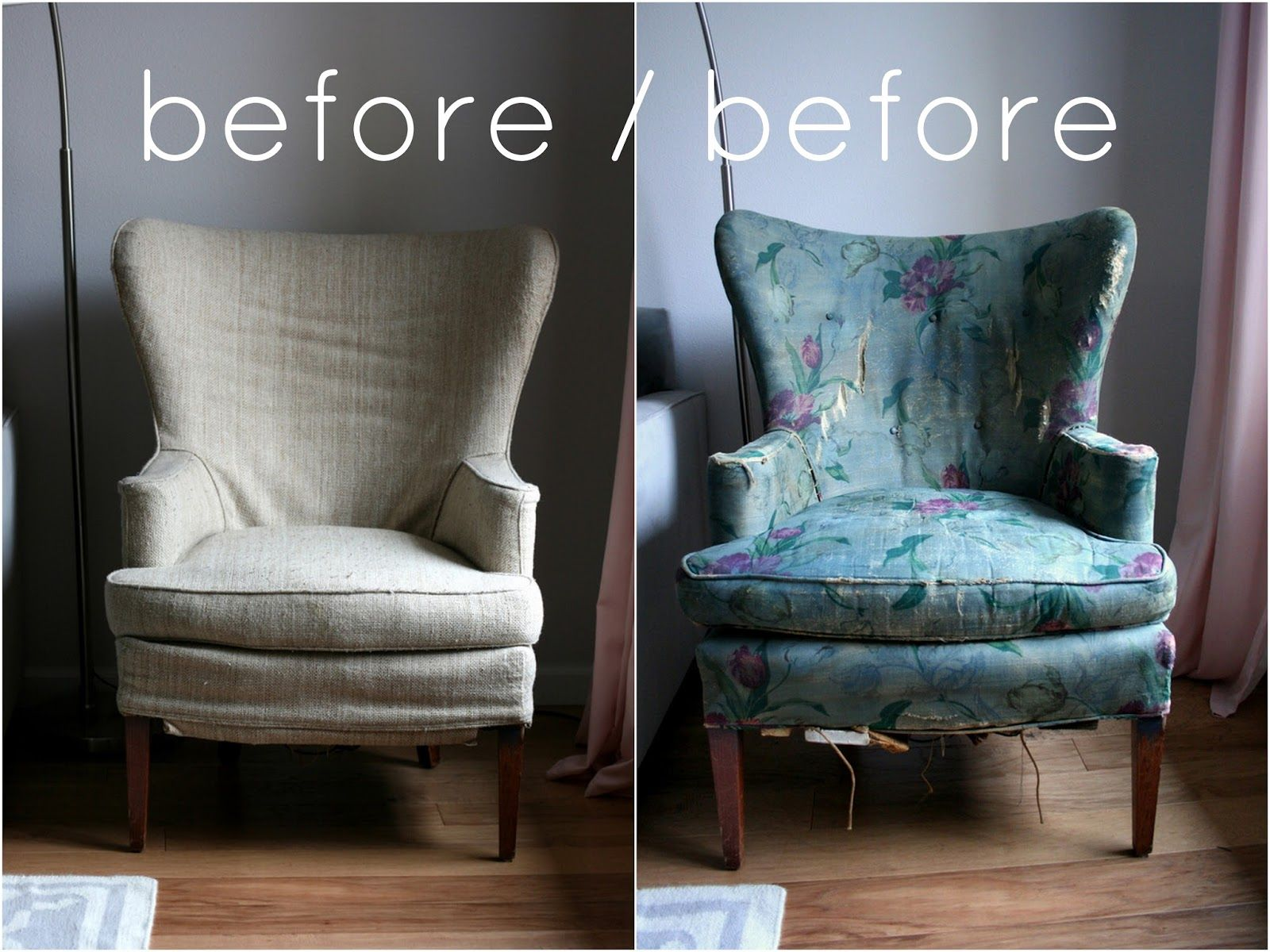 Awesome Create / Enjoy: Phew! Vintage Wingback Chair Slipcover Finally Complete