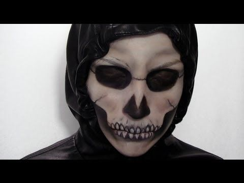 Maquillage d 39 halloween squelette youtube halloween pinterest maquillage squelette - Maquillage squelette facile ...
