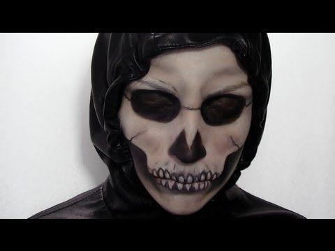 Maquillage d 39 halloween squelette youtube halloween pinterest maquillage squelette - Maquillage halloween squelette ...