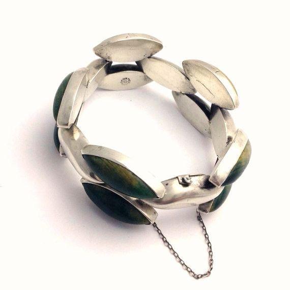 Early Taxco Silver Bracelet in a Modern Style