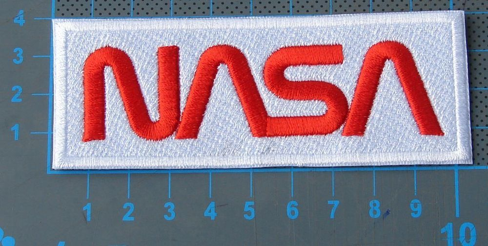 NASA Worm Patch Logo Jersey sew on embroidery