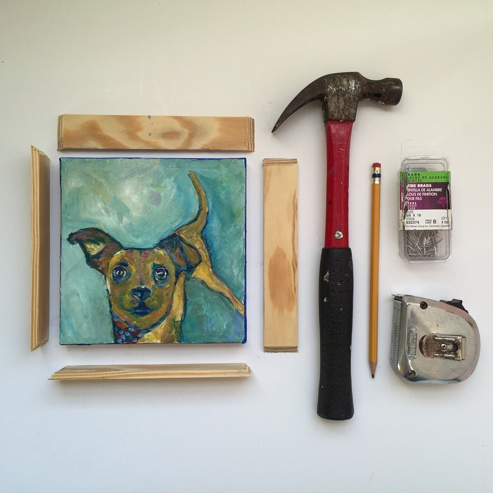 diy frame a canvas painting - Diy Picture Framing