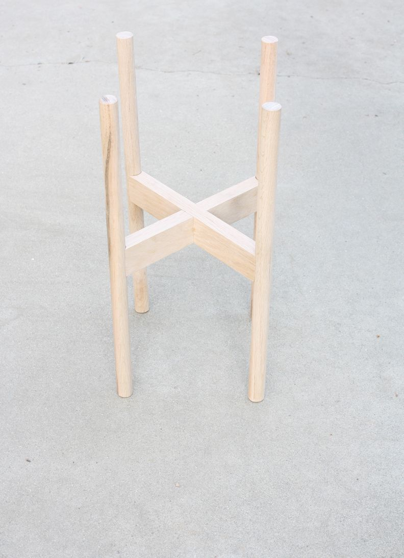DIY Wood Plant Stand Tutorial