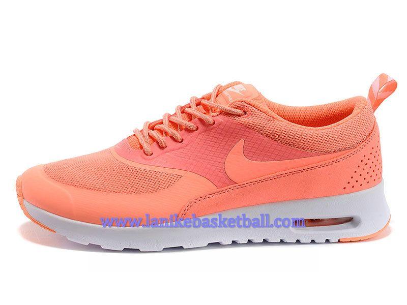 buy popular 11c1a 24a92 Nike Air Max Thea Print Chaussure Pour FemmeFille Orange Blanc