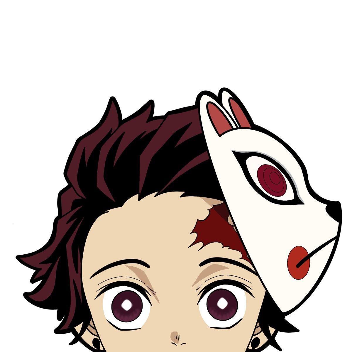 Tanjiro Decal Sticker Demon Slayer Anime Character Drawing Anime Canvas Anime Canvas Art [ 1200 x 1200 Pixel ]