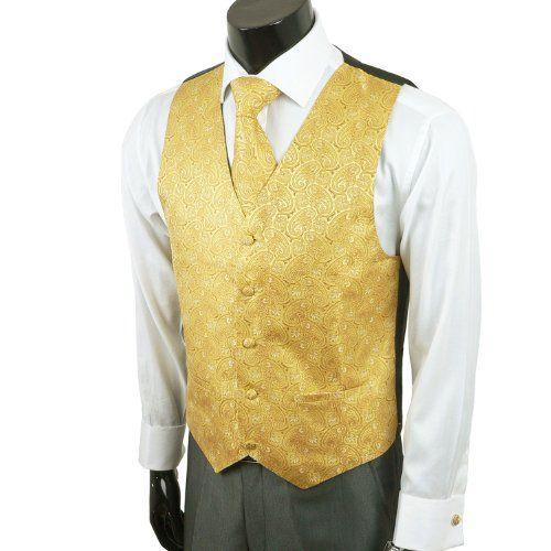 Mustard yellow collared dress vest