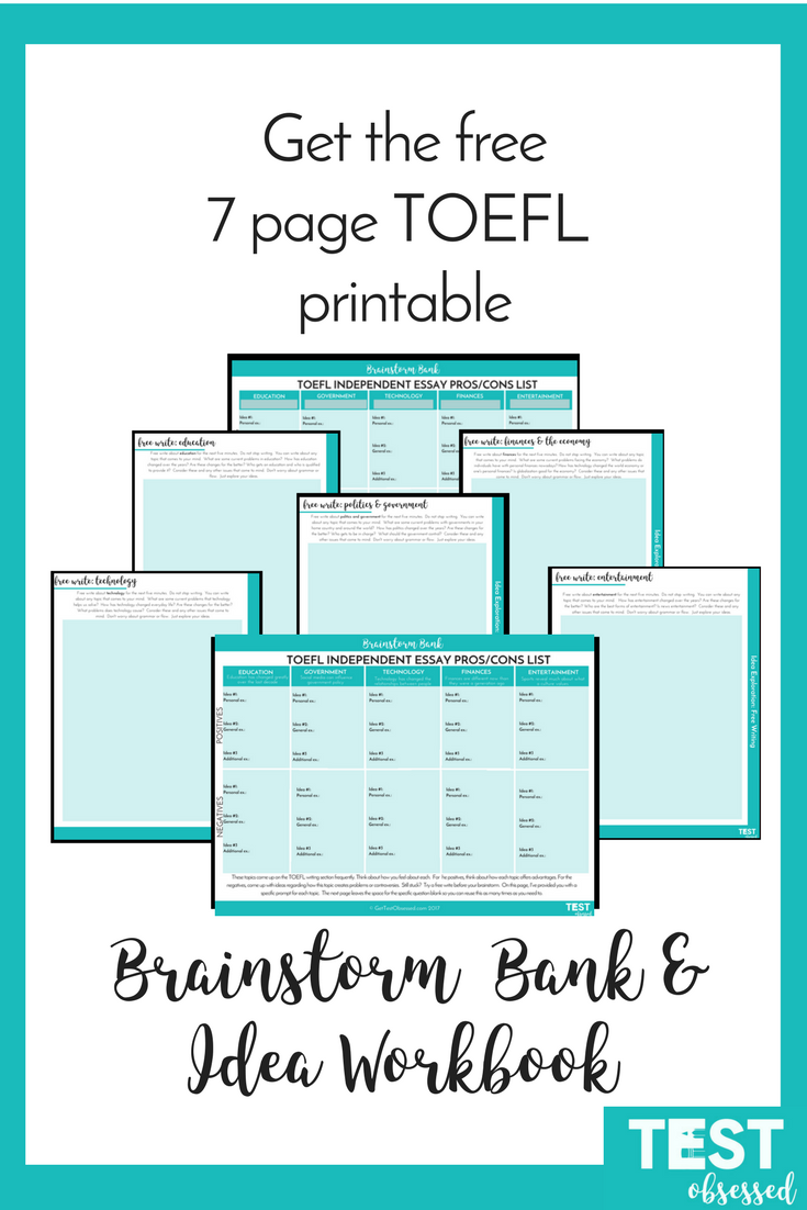 Learn The What When And How Of Coming Up With Ideas For The Toefl