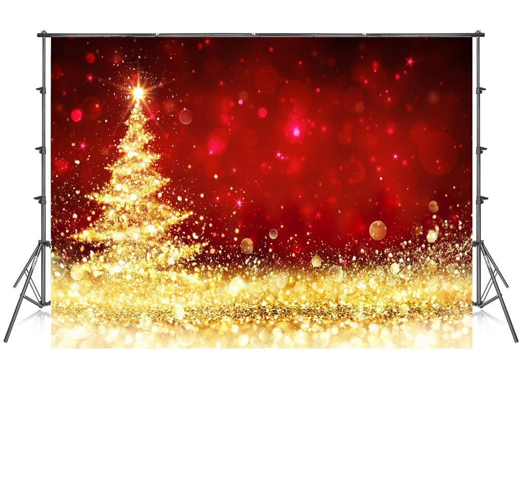 10x10 Ft Christmas Photography Backdrops No Wrinkle Gold Glitter Red Photo Backdrop For Photoshoot Christmas Photography Backdrops Photography Backdrops Christmas Photography