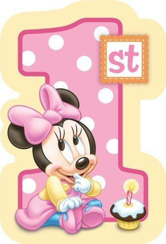 Baby Minnie Mouse 1st Birthday Invitations 8 Count Disney 8