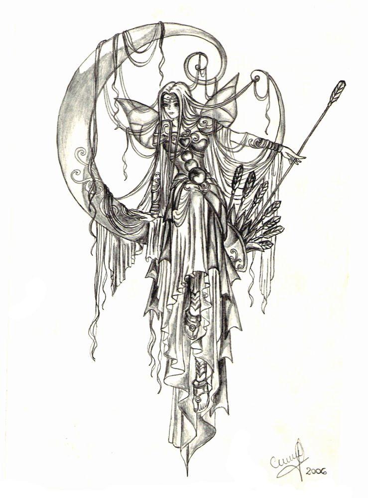 Artemis Greek Goddess Symbol Artemis Goddess Symbol...