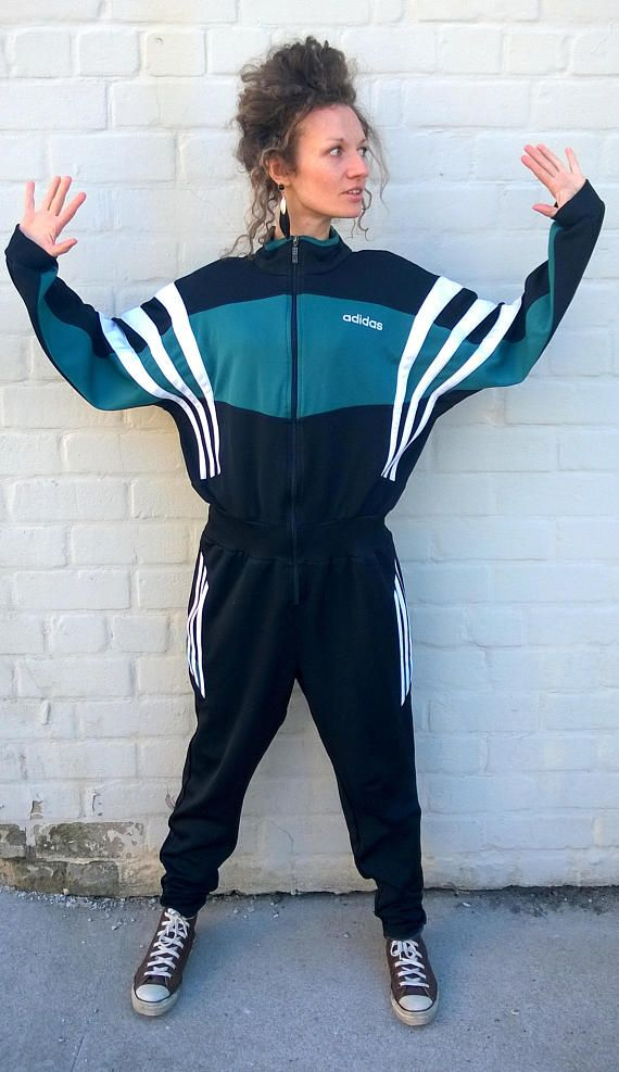 Vintage ADIDAS playsuit, one piece tracksuit, ADIDAS onesie, sports suit,  jumpsuit,