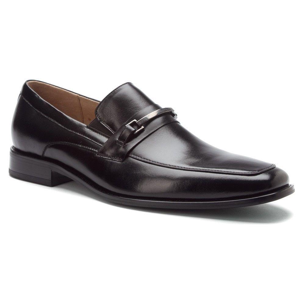 Stacy Adams Black Mens Leather Jakob Loafers