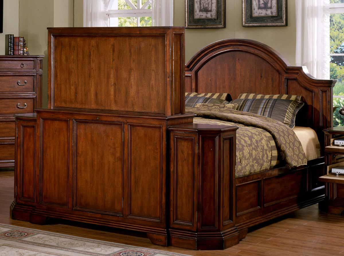 Signature Home Angela Bed With Footboard Lift Antique