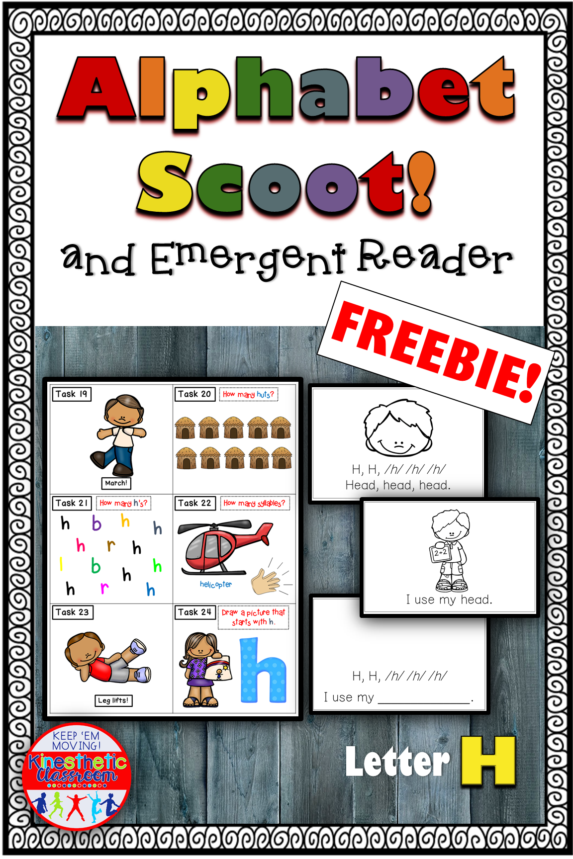 Alphabet Task Cards And Emergent Reader Letter H