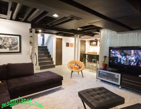 Basement Designs Creative creative inexpensive daylight basement ceiling | creative and