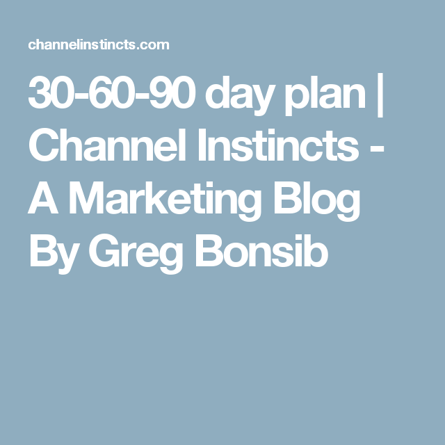 Day Plan  Channel Instincts  A Marketing Blog By Greg