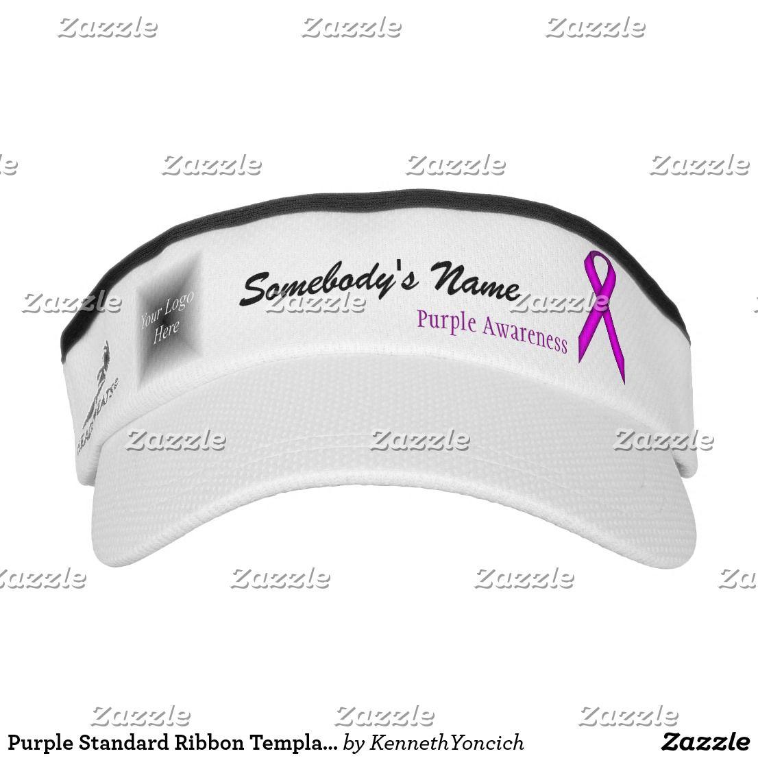 Purple Standard Ribbon Template Visor | Stuff SOLD on Zazzle ...