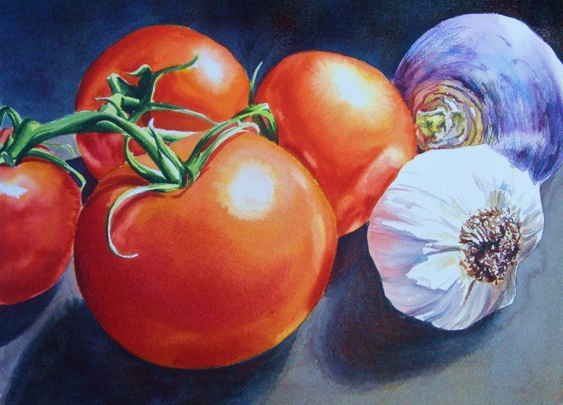 Watercolor Still Life Workshop Vegetable Painting Fruit