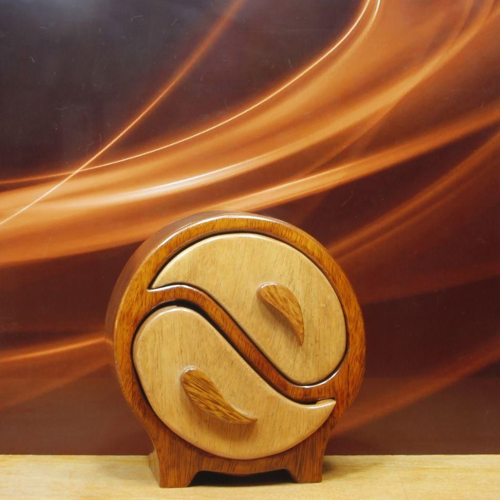 Yin Yang box fine wood art creativity by artists for a real