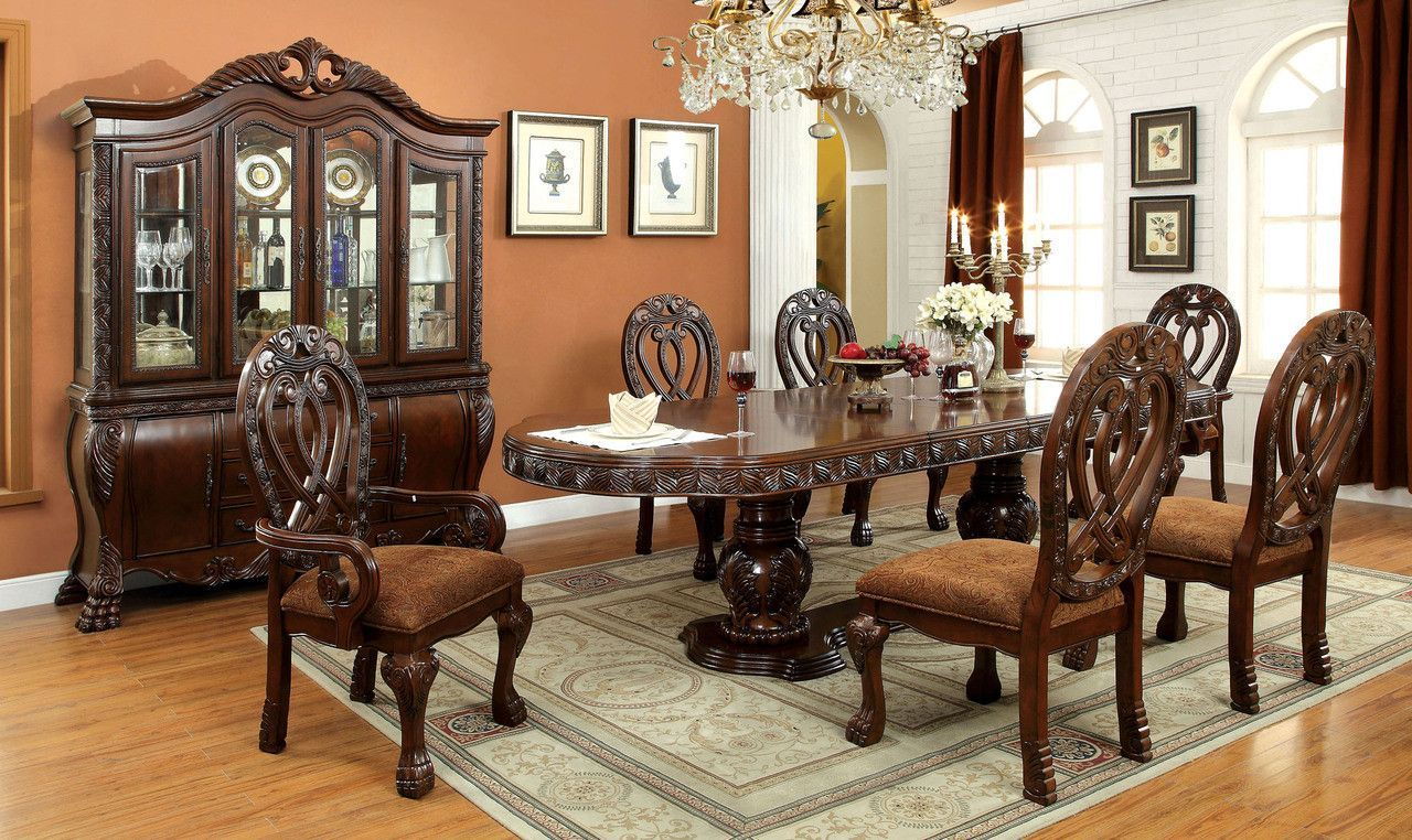 wyndmere dining table with 6 chairs cm3186ch-t | stühle, produkte, Esstisch ideennn