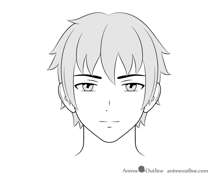 How To Draw Male Anime Characters Step By Step Animeoutline Guy Drawing Anime Characters Anime