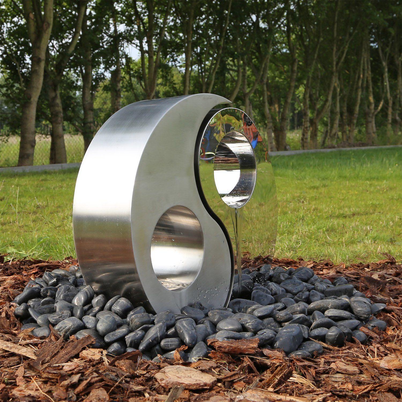 Hervorragend Edelstahl Springbrunnen Yin Yang De Garten Ue24