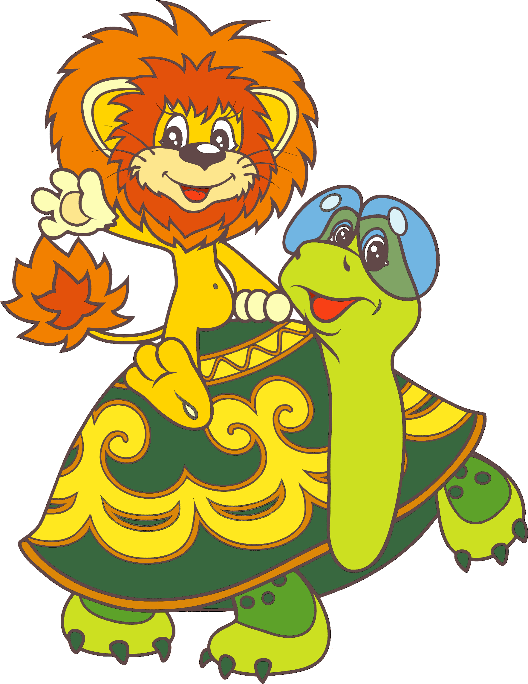 Открытка черепаха и львенок 26