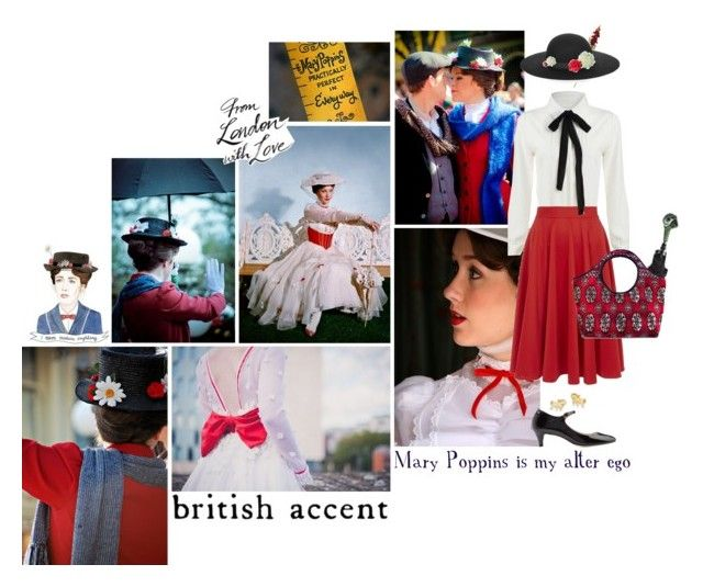 """""""Mary Poppins is my alter ego..."""" by lengthyballerina ❤ liked on Polyvore featuring Disney, Repetto, OKA, Closet, Lipsy, Laura Cole, Kevin Jewelers, women's clothing, women's fashion and women"""