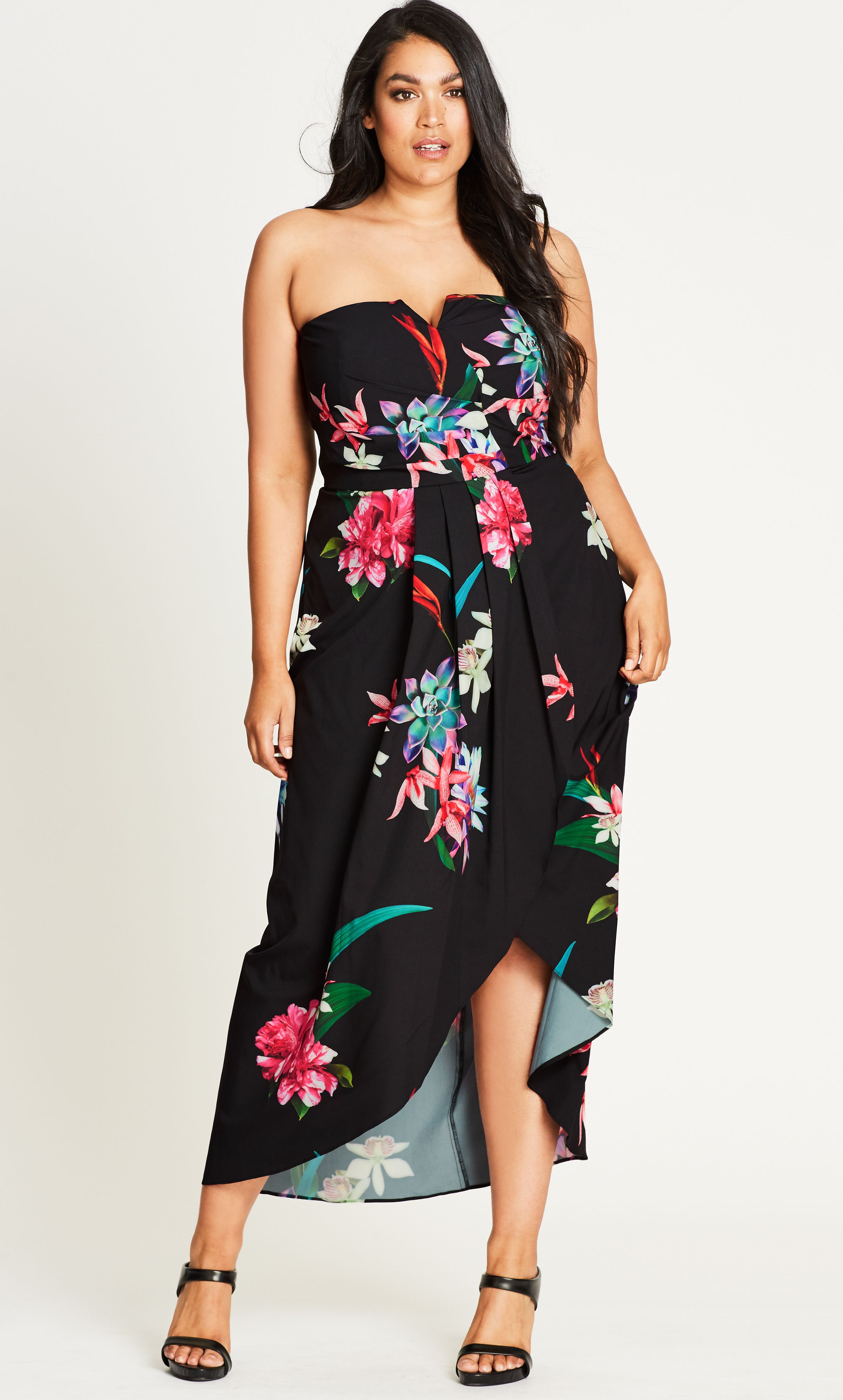 Plus size beach wedding guest dresses  Get your hands on the bold floral print of the Succulent Wrap Maxi