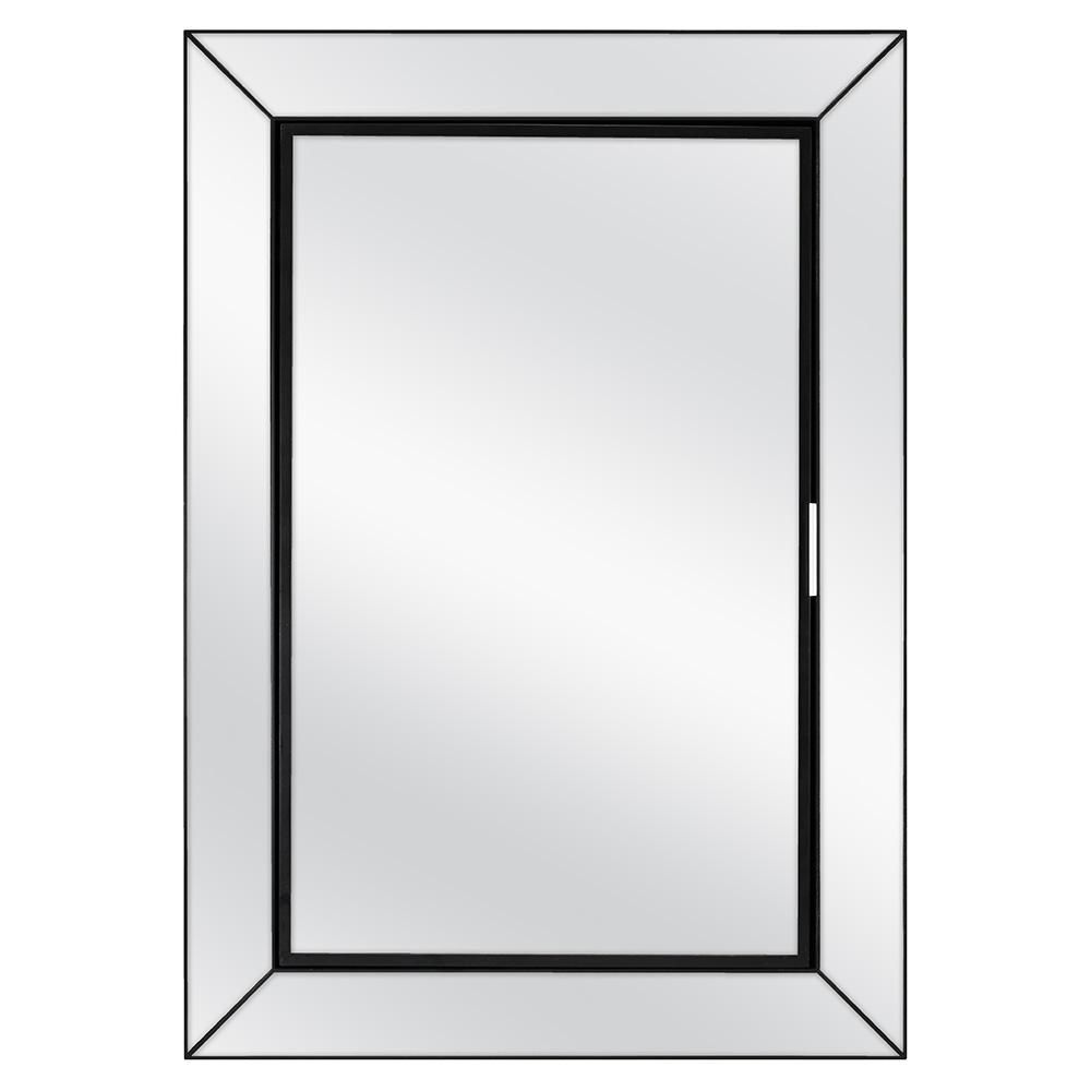 Home Decorators Collection 23 1 2 In W X 33 1 2 In H Fog Free Framed Recessed Or Surface Mount Mirror On Mirror Bath Medicine Cabinet In Black 45419 The Hom Medicine Cabinet Mirror Bathroom