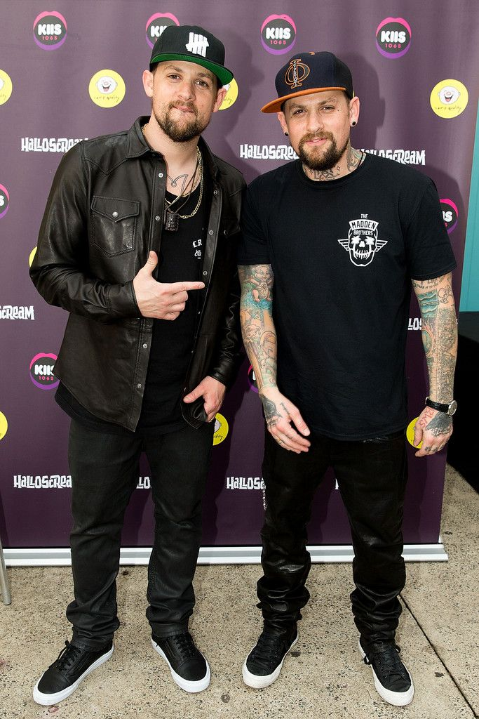 the madden brothers celebrate halloween at the halloscream party at luna park in sydney australia nov 1 2014