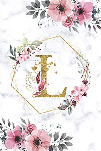 L Monogram Notebook Letter L Initial Alphabetical Journal For Writing And Notes Marble Pink F Monogram Notebook Monogram Wallpaper Flower Background Wallpaper