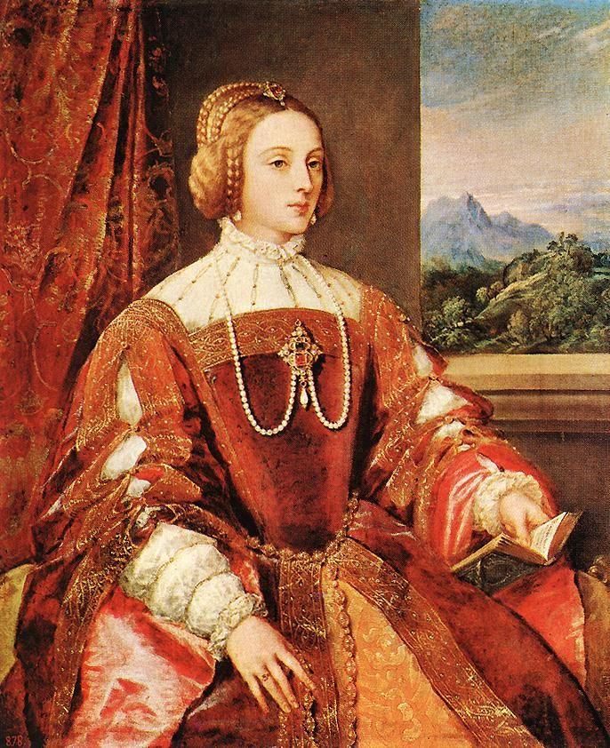 Isabel de Portugal (1548), por Ticiano Vecellio. Museo del Prado, Madrid.