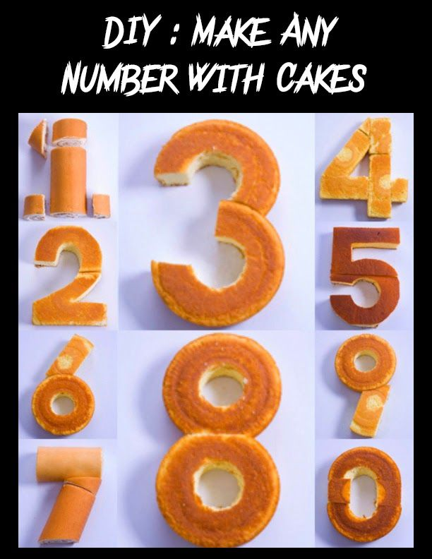 Diy Make Any Number With Cakes Holiday Happiness Pinterest