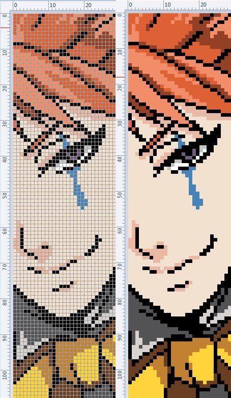 Anime x-stitch (с изображениями) | Пиксельные изображения minecraft, Образец искусства ...