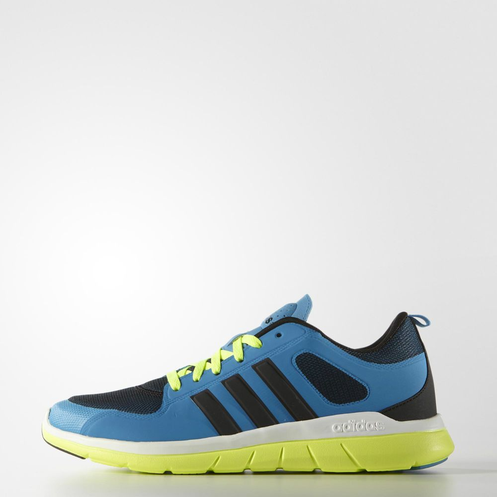 adidas neo blue and yellow
