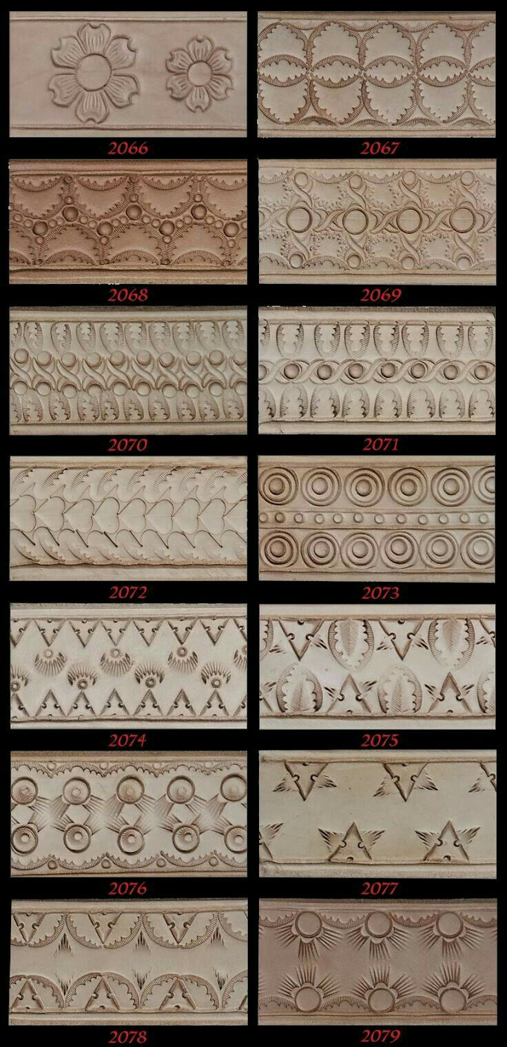 Belt Border Patterns Leather Project Ideas Pinterest
