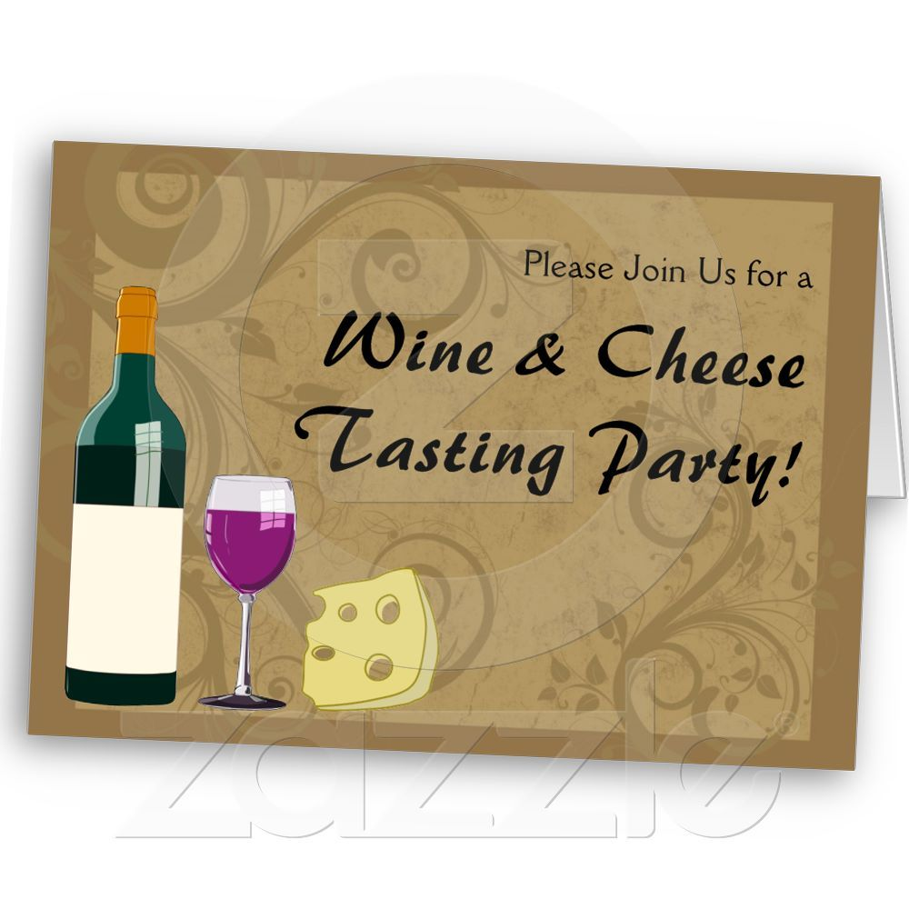 Wine & Cheese Tasting Party Invitation Cards from Zazzle.com