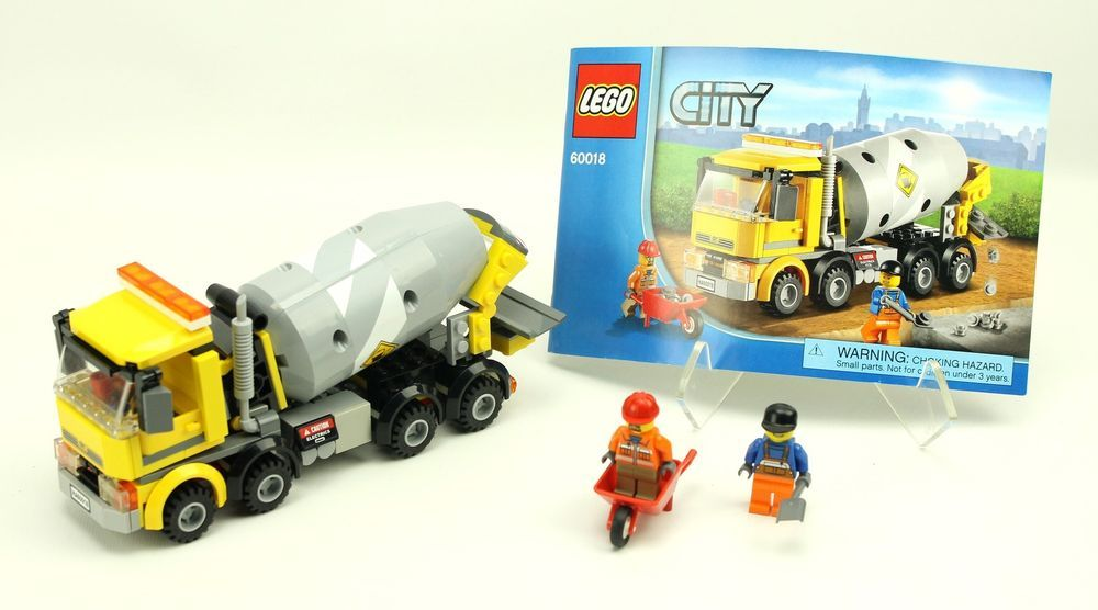Complete Lego City 60018 Cement Mixer Lego Pinterest Cement