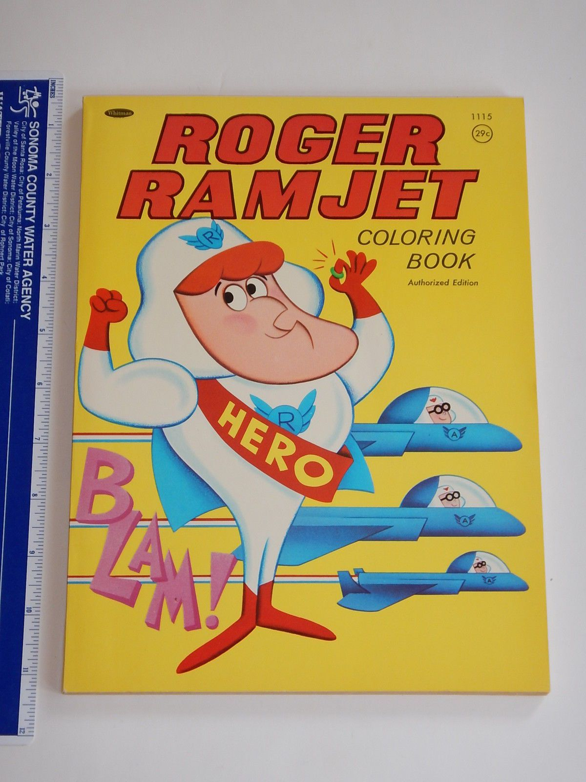 RARE 1966 Roger Ramjet Whitman Coloring Book Unused