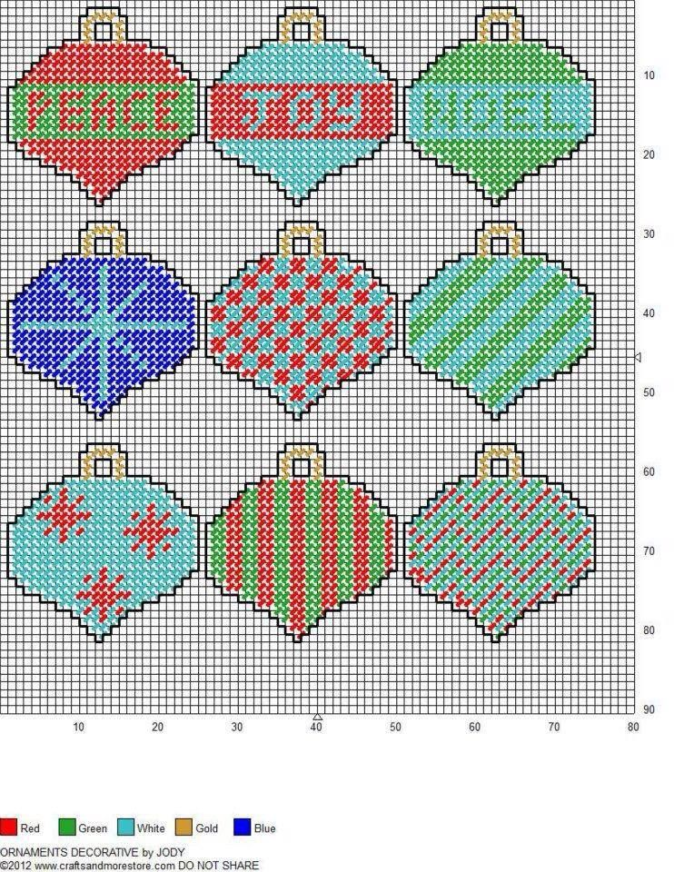 Plastic Canvas Christmas Ornament Patterns.Plastic Canvas Pattern Christmas Ornaments Cross Stitch
