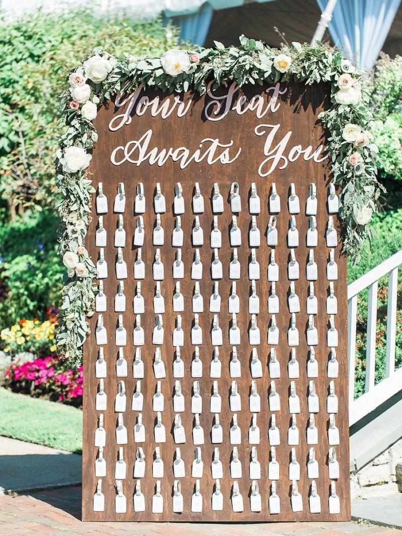 A Blush & Sage Michigan Wedding | Escort and Seating Ideas ...