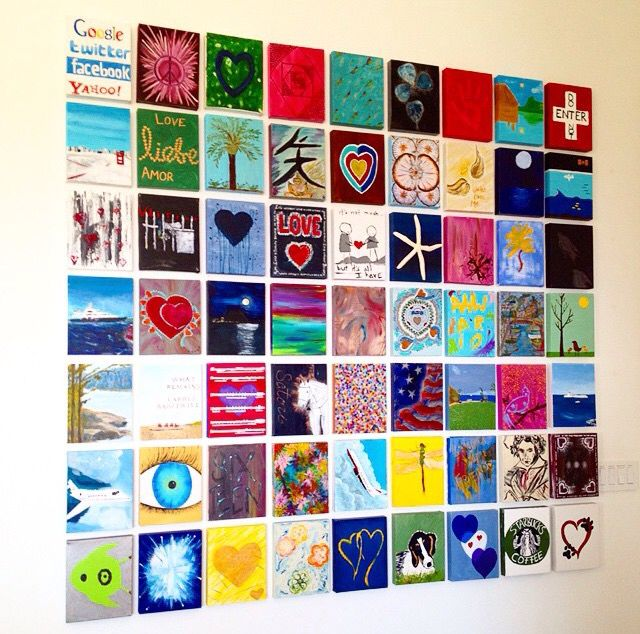 Small Painting Gallery Wall- Paint It Monday | Small teen room ...
