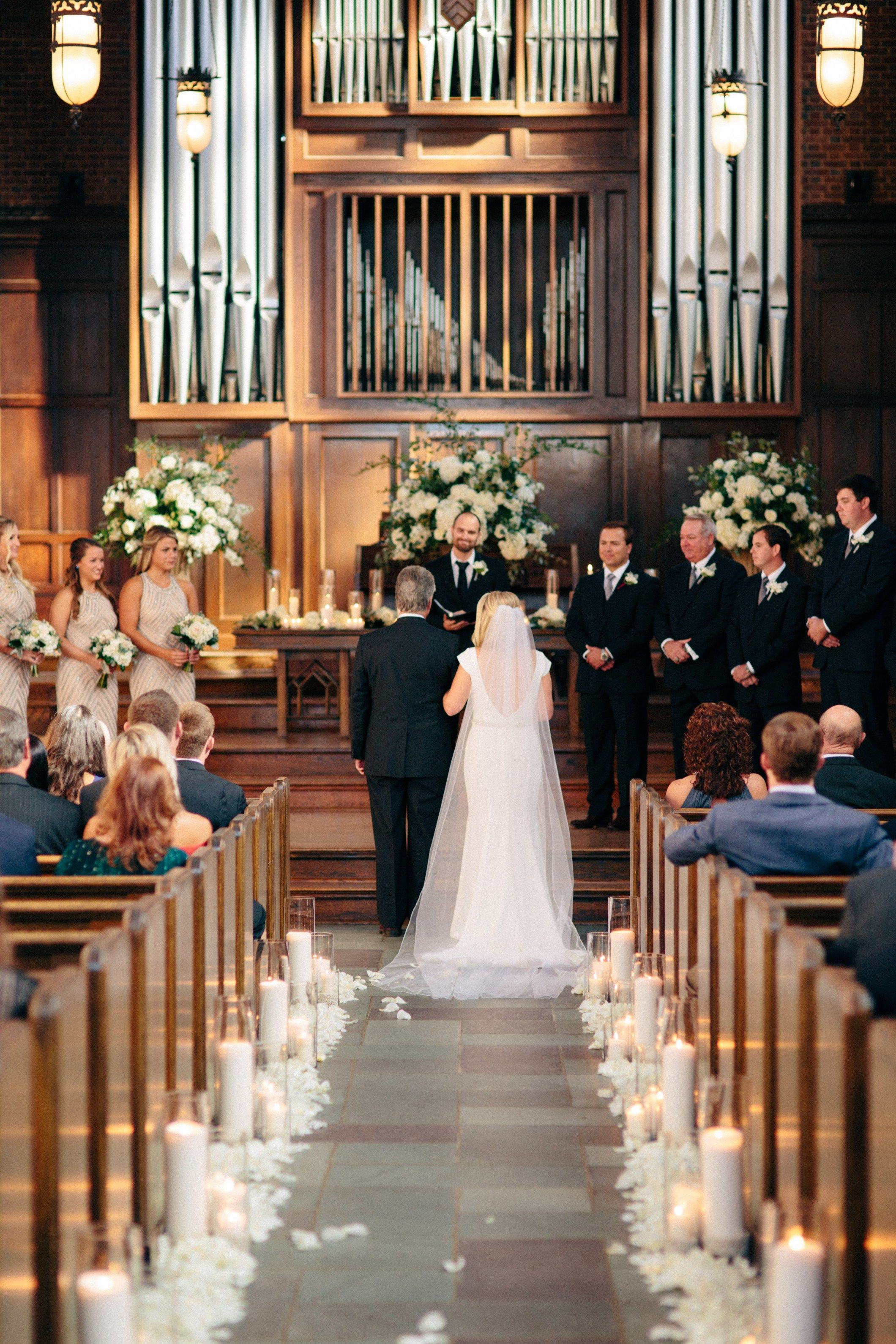 Traditional Lush Church wedding ceremony, Church wedding