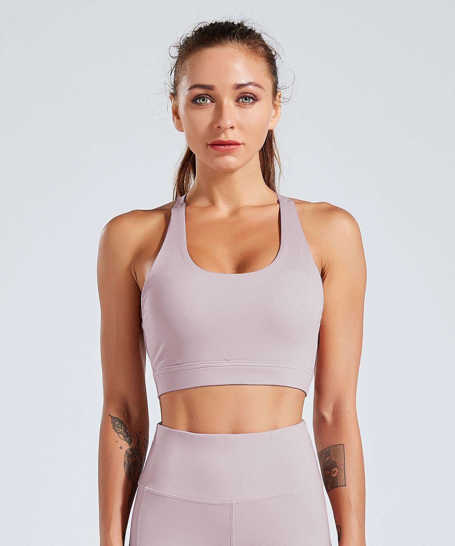 Strappy Sports Bra on Amazon Yoga women, High impact