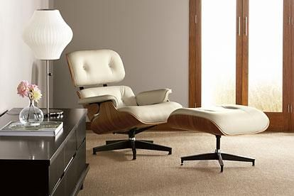 Eames Chair Lounge i really want one of these especially in ivory leather post war