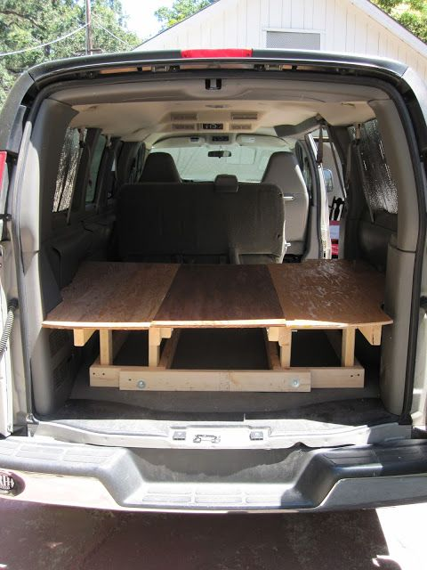 From A Chevy Express To DIY Customized Camper Van Building The Bed And Table