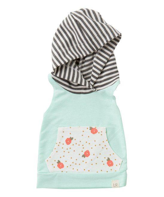 Soft Mint & Rosebud Sleeveless Hoodie - Infant & Kids