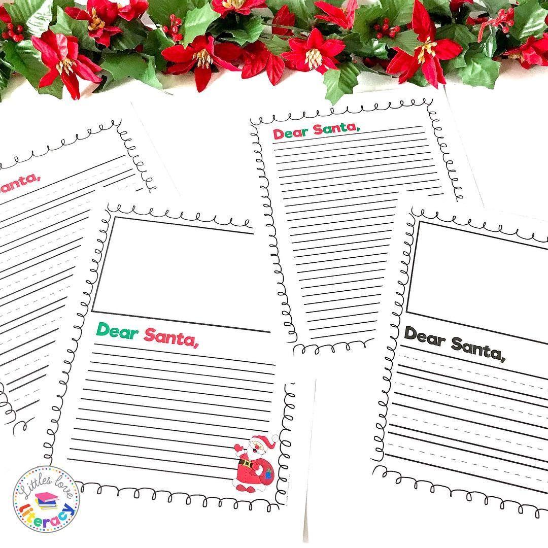 Free Santa Letter paper for kids! Merry Christmas! Free