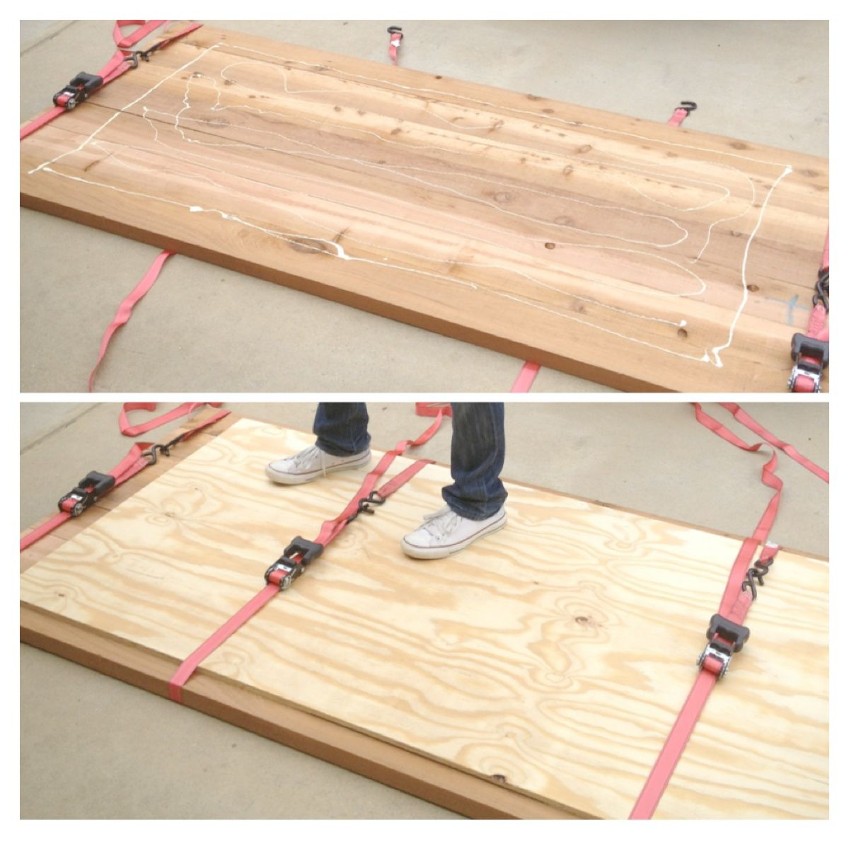 Dining Room Table Top With Liquid Nails To Attach Plywood First, Then Drill  Screws In